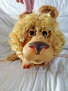Vintage 1962 Mattel Larry The Lion Rubber Face Working Pull String Talking Toy