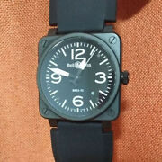 Bell And Ross Br03-92 Automatic Metal Model Mens Watch Black Used No Box