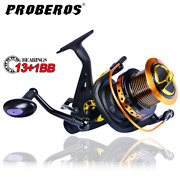 Proberos Freshwater Fishing Spinning Reel 28-50lb Front And Rear Drag System