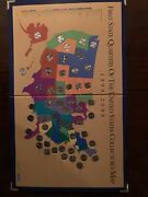 1999-2008 50 State Quarter Map Collection - Uncirculated With Certificate