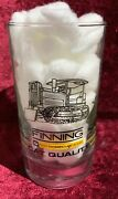 Vintage Finning Caterpillar Cat Quality Heavy Machinery Drinking Glass