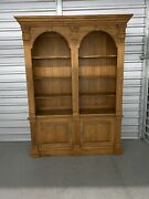 Ethan Allen Legacy Double Arch Bookcase Library Cabinet Maple