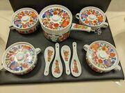 Royal Crown Porcelain Ovenware Paradise Sauce Pan With Four Individual Casserole