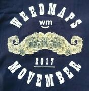 Weedmaps Fun T-shirt 2xl 2017 Movember 24in Pit2pit 24in Length 24in Width Sharp