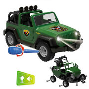 Diy Assembled Military Vehicle Car Off-road Truck With Engine Sounds Lights Toys