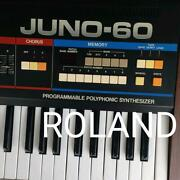 Roland Juno-60 Vintage Keyboard Synthesizer Used W/ Hard Case Import From Japan