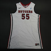 Rutgers Scarlet Knights Nike Game Jersey - Basketball Menand039s White/red Used
