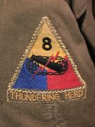 Wwii 8th Armored 80th Infantry Division Theater Patch Ike Jacket Thundering Herd