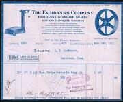 1911 Hartford Ct - Fairbanks Co - Scales Engines History - Color Letter Head