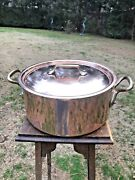 Mauviel Sold By Lacornue Rondeau Copper Stew Stock Pot 11.25 Stainless S.lined