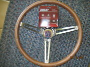 New 68-74 Amx Wood Steering Wheel With Install Kit