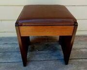 Vintage Singer Sewing Machine Cabinet Stool 65 Art Deco Great Condition