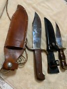 Hoffritz Basic Hunter And Unknown Brand Vintage Knives