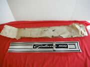 Ford Nos 1964 Galaxie 500 Lower Trunk Molding Ornament