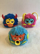 Lot Of 3 Hasbro Furby Party Rockers 2012 Scoffby Loveby Twittby Tested Works