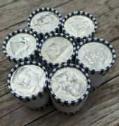 Half Dollar Roll W/ 90 Silver Endkennedy Or Benjamin Unsearched Bank Roll