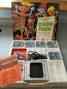 Vintage Mattel Thingmaker 1965 Creeple Peeple Set With Box, All Molds And Parts