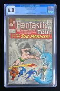 Fantastic Four 33 Cgc 6.0 12/64 1st App Attuma White Pages Silver Age 🔥💥