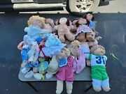 Vintage Cabbage Patch Kids Doll Lot With Cpk Clothes Lot See All Pics