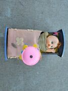Vintage Trademark Modren Toys Baby In Crib With Mobile Toy Rare