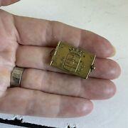 Antique French World War 1 Miniature Photo Book Locket Of Ypres Pendant Fob