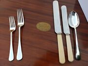 Gd Antique Hawksworth Eyre 12 Setting English Cutlery Set Rosewood Case Quality