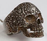 Skull Ring Sterling Silver 800 Mans Jewelry Gothic Biker Military Brutal Style