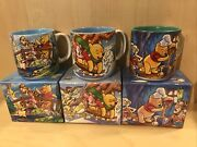 3 X Disney Winnie-the-pooh Classic Mugs With Boxes 2001 Excellent Condition