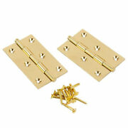 1 - 1/2 X 1 - 1/2 Button Tip Polished Hinge Solid Brass Vertex Pair
