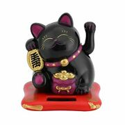Sanpyl Mini Lucky Cat Solar Powered Waving Lucky Fortune Cat Good Luck Chines...