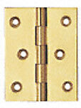 1 - 1/2 X 1 - 1/2 Fixed Polished Solid Brass Pin Hinge Vertex Pair 930267