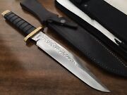 Super Rare Vintage Engraved Gerber Bmf Fixed Blade Knife Modified Handle Usa