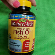 Nature Made Fish Oil 1200 Mg W. Omega-3 360 Mg Softgels 100 Count Exp-11/2023