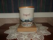 Longaberger Homestead 2 Quart Pickling Crock With Woodcrafts Lid - Made In Usa
