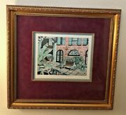 Brulatour Courtyard By Artist Nona Lee Original Art Hand Colored Etching 89/200