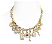 21p Carnival Clustered Charm Story Necklace Pearl Cc Gold Choker 18 2021
