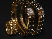 Roberto Coin Granada 18k Gold Diamond Floral Cut Out Satin Ring Gorgeous Size 7
