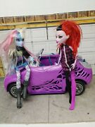 Monster High Scaris City Of Frights Purple Doll Car Vehicle With 2 Figures