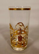 Hard To Find. Set Of 2 Never Used Culver Gold Mushroom Hi Ball Tumblers