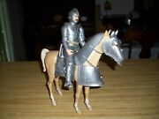 Vintage Marx Silver Knight Sir Stuart With Horse 1960and039s