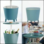 Keter Modern Bar Outdoor Patio Furniture Side Table 7.5 Gallon Beer Wine Cooler