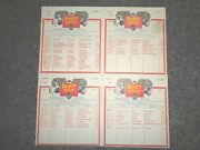 1983 Ringling Bros And Barnum And Bailey Circus Tour Route Cards 1-4red Unit
