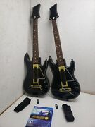 Ps4 Guitar Hero Live 2 Guitars 2 Dongles 2 Straps + Game