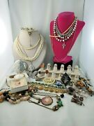 Antique Vintage Jewelry Lot Gold Silver Pearl Ruby Diamond And More - Vc9299-3