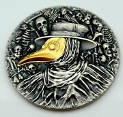 Niue - 2019 - Mask Of Plague Doctor - High Relief Silver Coin - Antiqued/gilding