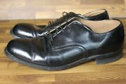 Vtg 1972 Vietnam Craddock Terry Low Quarter Military Oxfords Shoes Leather 10