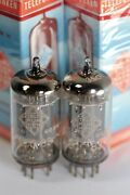 1960and039s Nos Telefunken Ecc83 12ax7 Trophy-quality M-pair Smooth-plate Tubes 106