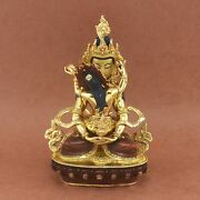 Hand Carved Gold Gilded Aparmita Tsepame Shakti Copper Statue From Patan, Nepal