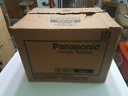 Vintage Panasonic Portable Television Tr-1202t Black/white New In Box-gaming