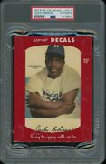 1952 Star-cal Decals Type 1 79-g Jackie Robinson Psa Authentic Brooklyn Dodgers